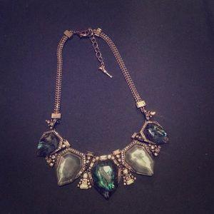 Blue chunky style necklace